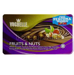 Vochelle Chocolate Tin Fruit & Nuts  205gm