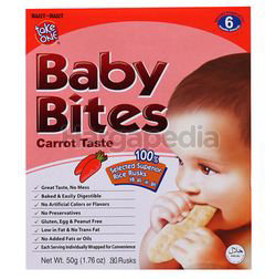 Take One Baby Bites Carrot Rusks 50gm