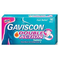 Gaviscon Double Action Tablets 250mg 16s
