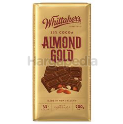 Whittaker's Block Almond Gold 200gm