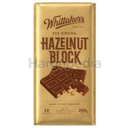 Whittaker's Block Hazelnut 200gm