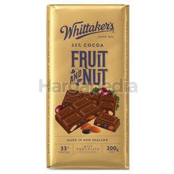 Whittaker's Block Fruit & Nut 200gm