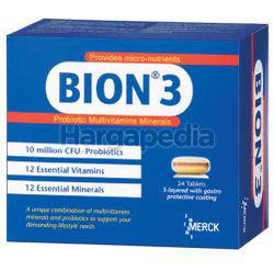 Bion 3 Probiotic Multivitamins & Minerals 24s