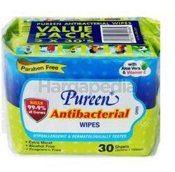 Pureen Baby Wipes Antibacterial 2x30s
