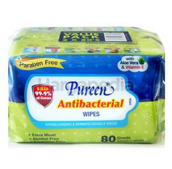 Pureen Baby Wipes Antibacterial 2x80s