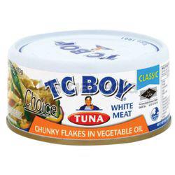 TC Boy Tuna White Meat Chunky Flakes in Vegetable Oil 150gm