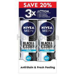 Nivea Men Black & White Invisible Fresh Deodorant Spray 2x150ml