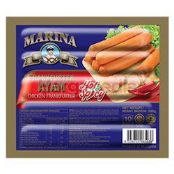 Marina Chicken Frankfurter Hot & Spicy 300gm