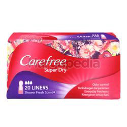Carefree Super Dry Pantyliner Scented 20s