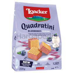 Loacker Quadratini Wafer Blueberry Yoghurt 220gm
