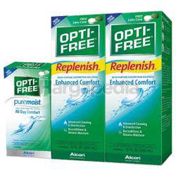 Alcon Opti-Free Replenish Multi-Purpose Disinfecting Solution 2x300ml + Pure Moist 90ml
