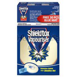 Shieldtox Blue Corded Vapouriser Free Blue Mat 30s 1set