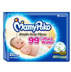 Mamy Poko Baby Wipes Cotony Soft Fragrance Free 20s