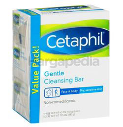 Cetaphil Gentle Cleansing Bar 3x4.5oz