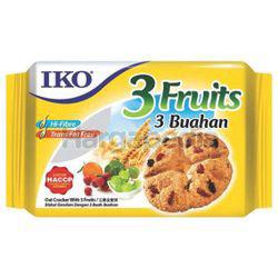 IKO Oatmeal Crackers 3 Fruits 178gm