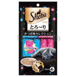 Sheba Melty Cat Treats Katsuo & Katsuo Salmon 4x12gm