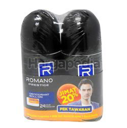 Romano Men Deodorant Roll On Prestige 2x50ml