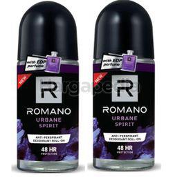 Romano Men Deodorant Roll On Urbane Attitude 2x50ml