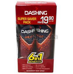 Dashing Deodorant Spray Speed 2x125ml