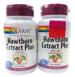 Solaray Hawthorn Extract Plus 2x60s