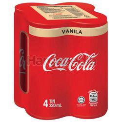 Coca-Cola Vanilla Can 4x320ml