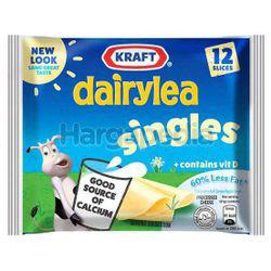 Kraft Dairylea Singles Hi Calcium Cheese 60% Less Fat 12s 250gm