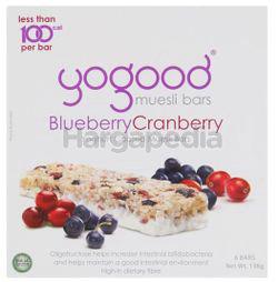 Yogood Blueberry Cranberry Muesli Bar 138gm