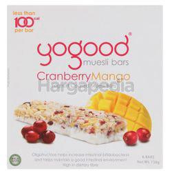 Yogood Cranberry Mango Muesli Bar 138gm