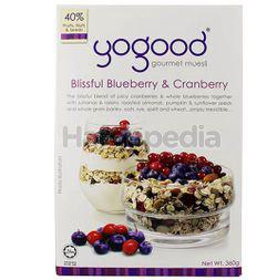 Yogood Gourmet Muesli Blissful Blueberry & Cranberry 360gm