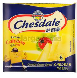 Chesdale Cheese Plain 6s 125gm