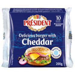President Burger Cheddar Sliced Cheese 200gm