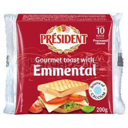 President Emmental Sliced Cheese 200gm