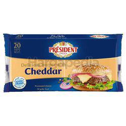 President Burger Cheddar Sliced Cheese 400gm