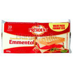 President Emmental Sliced Cheese 400gm