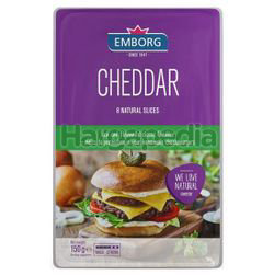 Emborg Cheddar Cheese Slices 150gm