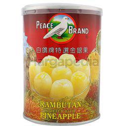 Peace Brand Rambutan Stuff with Pineapple 565gm