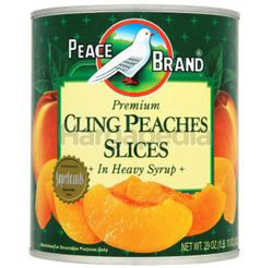 Peace Brand Premium Cling Peaches Slices in Heavy Syrup 822gm