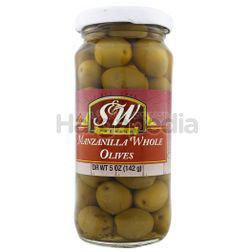S&W Manzanilla Olives 142gm
