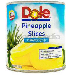 Dole Pineapple Slices In Heavy Syrup 439gm