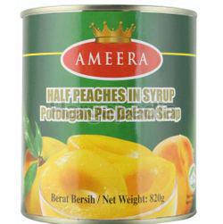 Ameera Half Peaches In Syrup 820gm