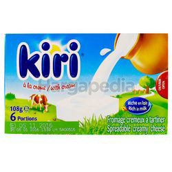 Kiri Cream Cheese 6s 108gm