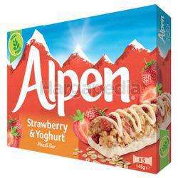 Alpen Cereal Bar Strawberry & Yogurt 145gm