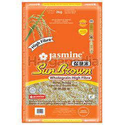 Jasmine Sunbrown Wholegrain High Fibre Rice 2kg