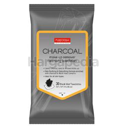 Purederm Charcoal Make Up Remover Cleansing Towelettes 30s