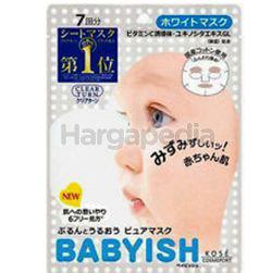Kose Cosmeport Clear Turn Babylish White Mask 7s
