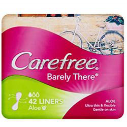 Carefree Barely There Aloe Pantyliner 42s