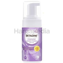 Betadine Feminine Wash Foam Pump Gentle Protection 100ml