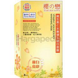 Sakura Love Vitamin C Aqua Bouncy Whitening Mask 8s