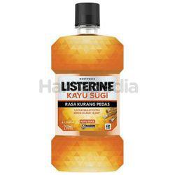 Listerine Kayu Sugi Less Intense Mouth Rinse 250ml