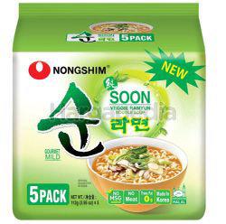 Nong Shim Inst Noodle Soon Veggie 5x112gm